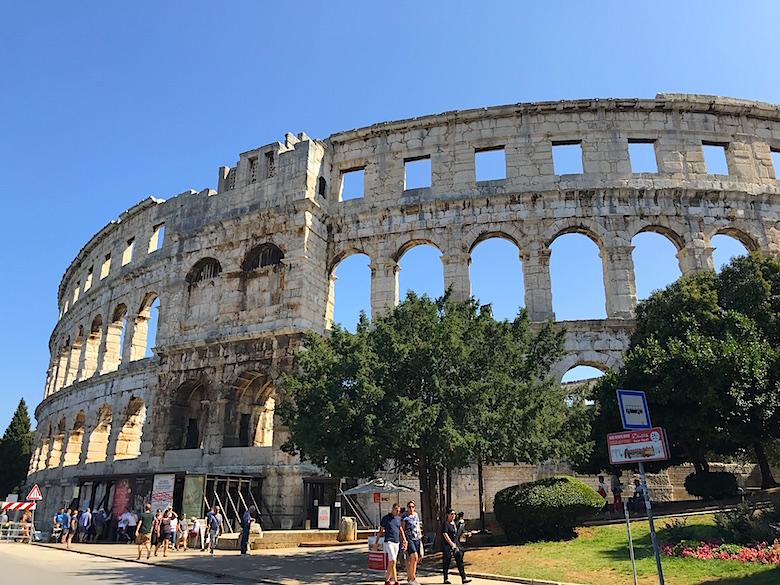 roman amphitheatre in pula croatia