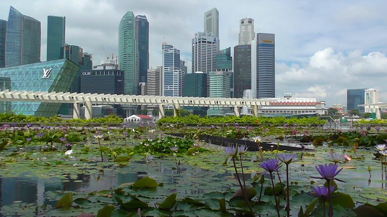 Geschäftsviertel Singapur