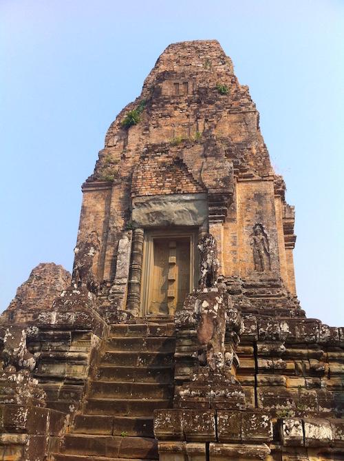 Tempel von Angkor mit dem Fahrrad