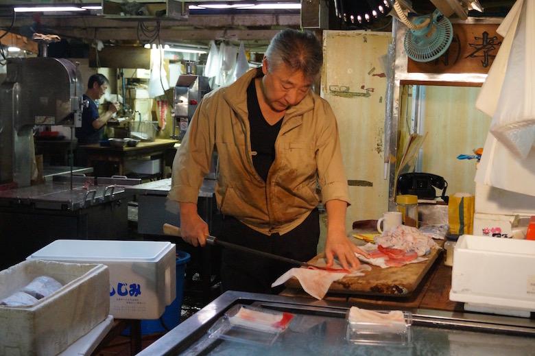 Tsukiji Fischmarkt Tokio