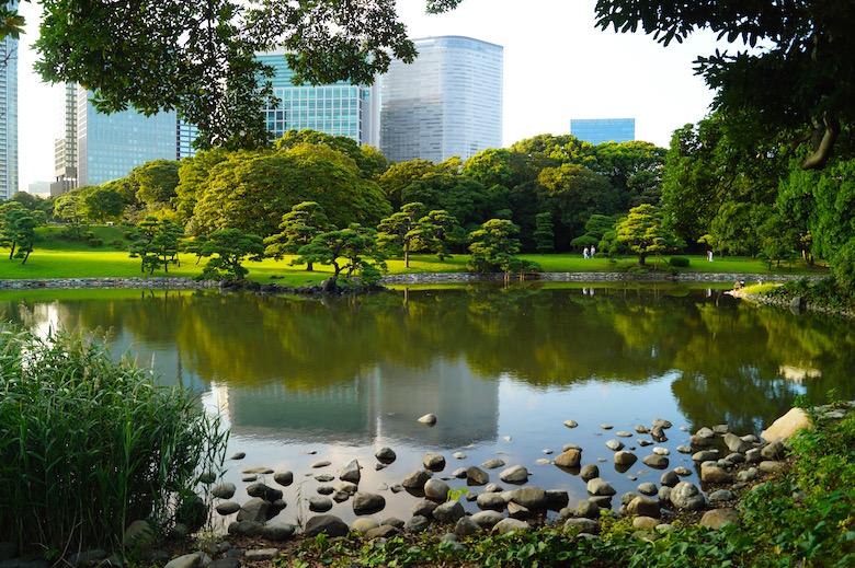 Hama Rikyu Garten Tokio Japan