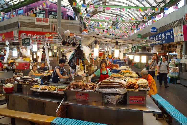 Gwangjang Markt Seoul Südekorea