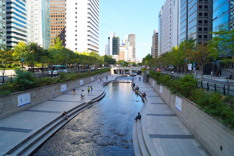 Cheong-gye-cheon Seoul Südkorea