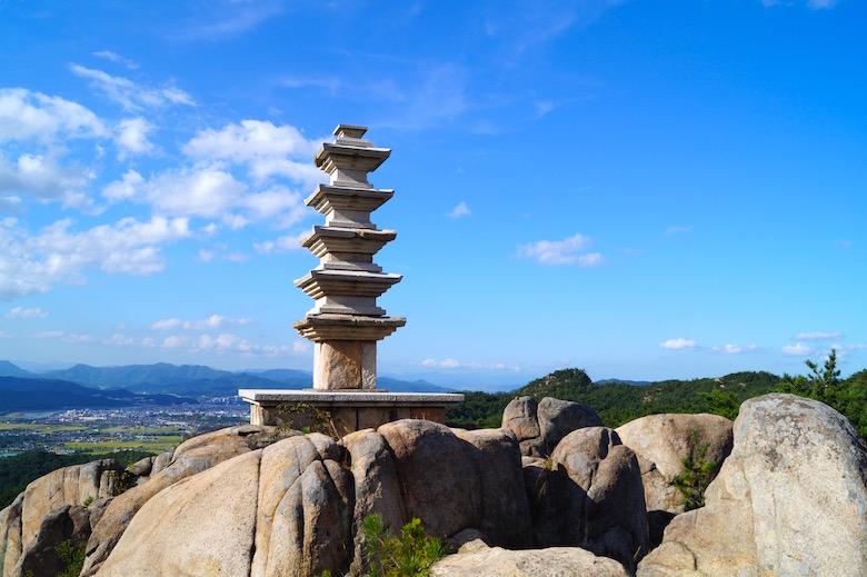 Berg Namsan Gyeongju Südekorea