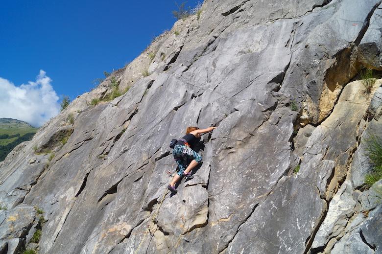 Klettern in Valloire Frankreich