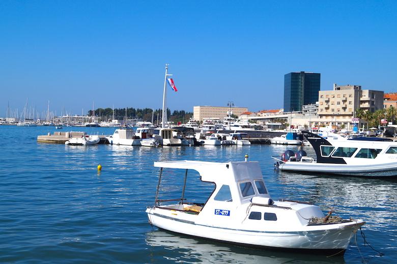 Uferpromenade Riva Split Kroatien