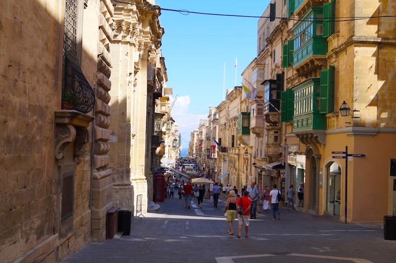 Alte Straßen Valletta Malta