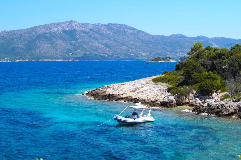 Insel Badija Korcula Kroatien