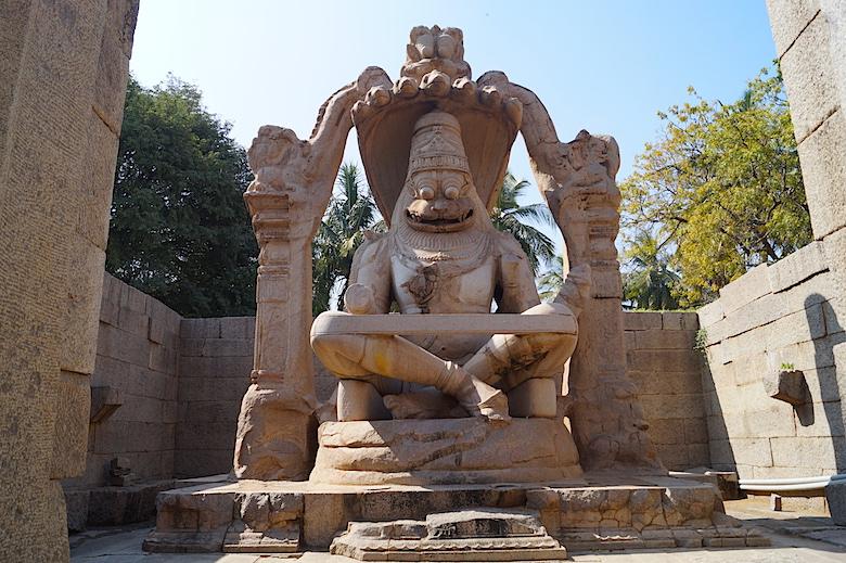 Lakshmi Narasimha Tempel Hampi Indien