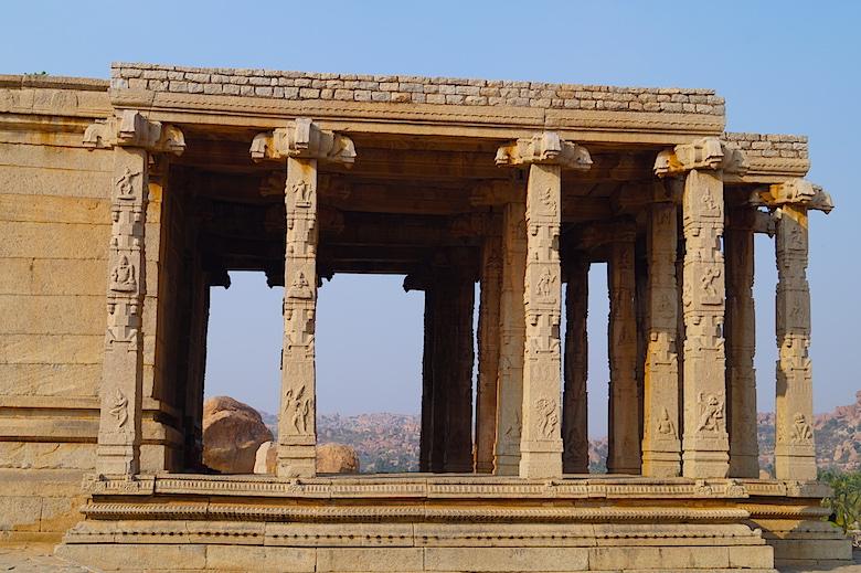 Kadalekalu Ganesha Tempel Hampi Indien