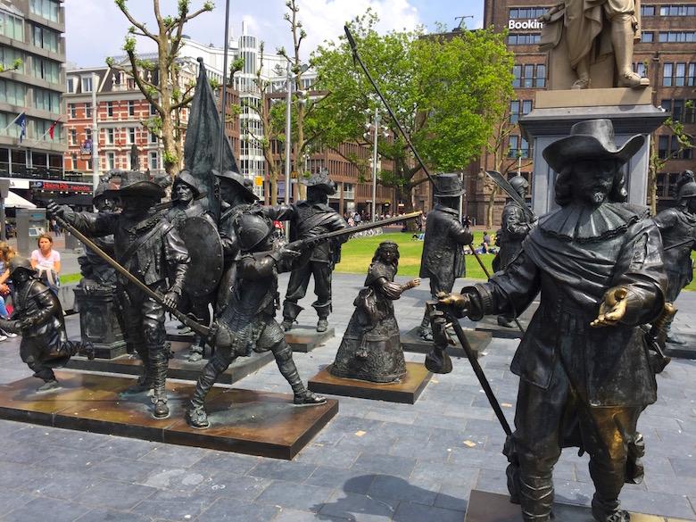 Rembrandtplein Amsterdam Niederlande