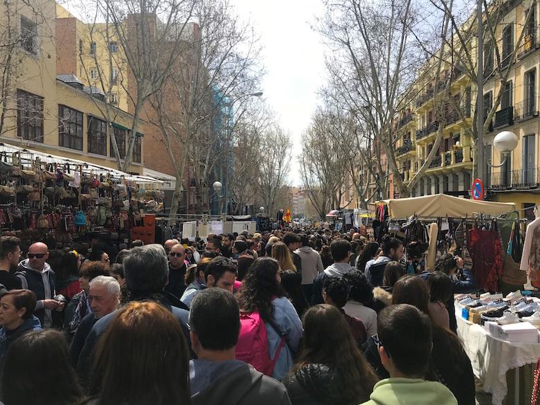 Flohmarkt El Rastro Madrid