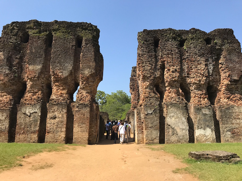 Königspalast Polonnaruva Sri Lanka