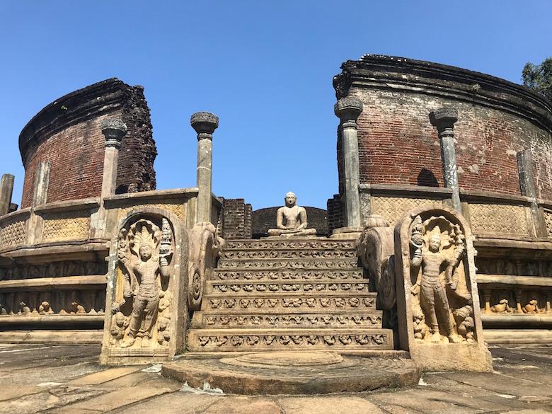Heiliges Viereck Polonnaruwa Sri Lanka
