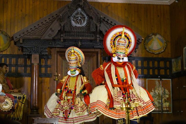 Kathakali Show Kochi Kerala Indien Drei Tage Kochi