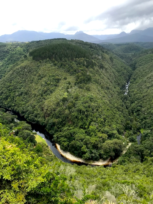 Map of Africa Wilderness Garden Route Südafrika Highlights