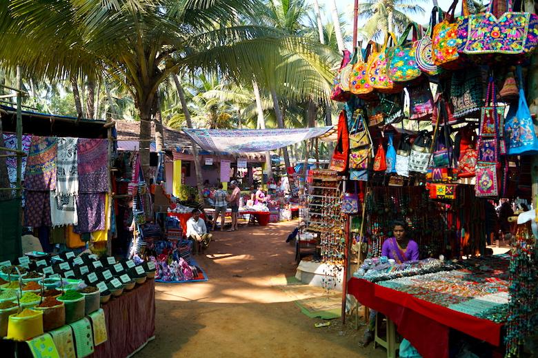 Flohmarkt Anjuna Goa