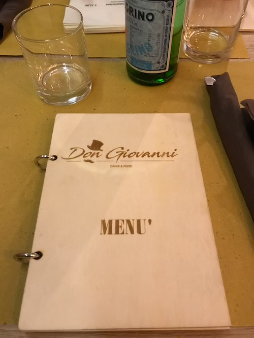 Don Giovanni Food and Drink Rom