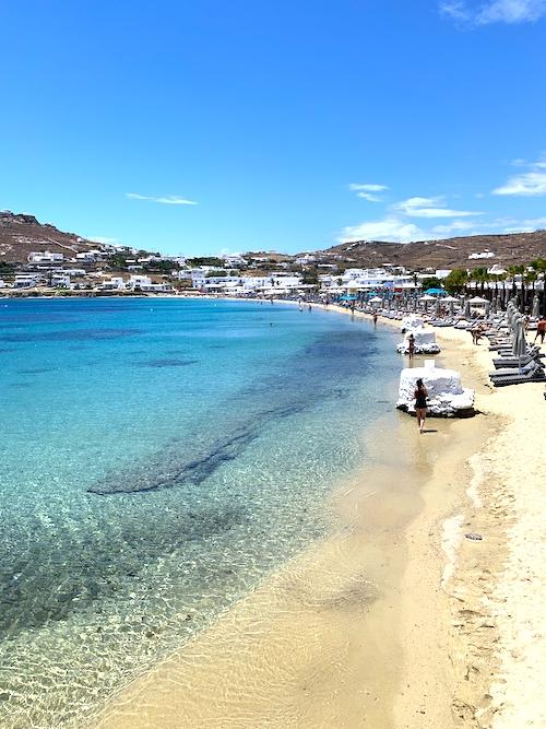 Ornos Beach Schönste Strände Mykonos